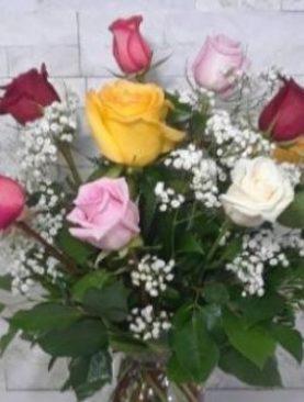 Assorted dozen roses